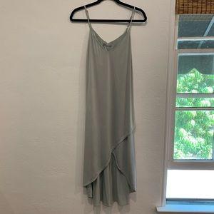 Tart mint green shelf bra midi dress sz M